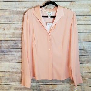 Silk blouse sz 14 Talbots sherbet